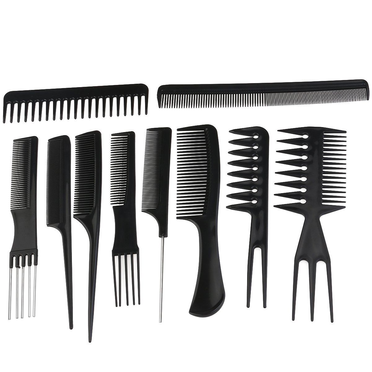 Rosenice Professional Salon Hair Styling Combs Hairdresser Accessories Tools Set 10 Pieces This Is An Hair Tool Set Styling Comb Professional Hair Tools