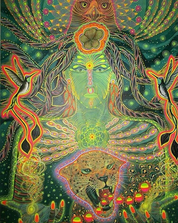 Mother aya psychadelic art t