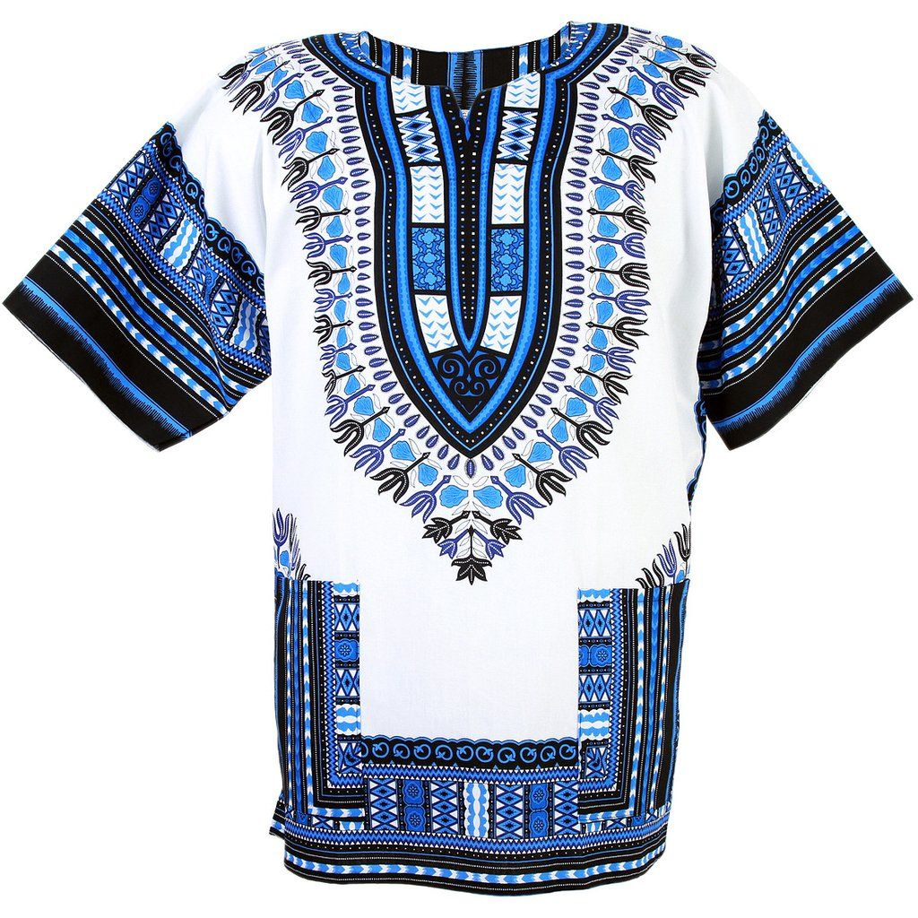 Casual Party Dress African tee Dashiki Hippie Festival Tops Tribal Men/'s T-shirt