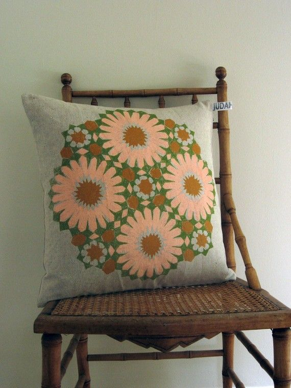would be cute as a crochet applique pillows pillow on hole in the wall cap oriental id=77573