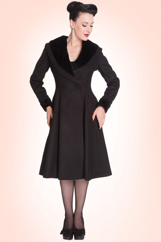Swing Coat In Outfits BlackPretty Bunny Vivien 50s OZkXuPi