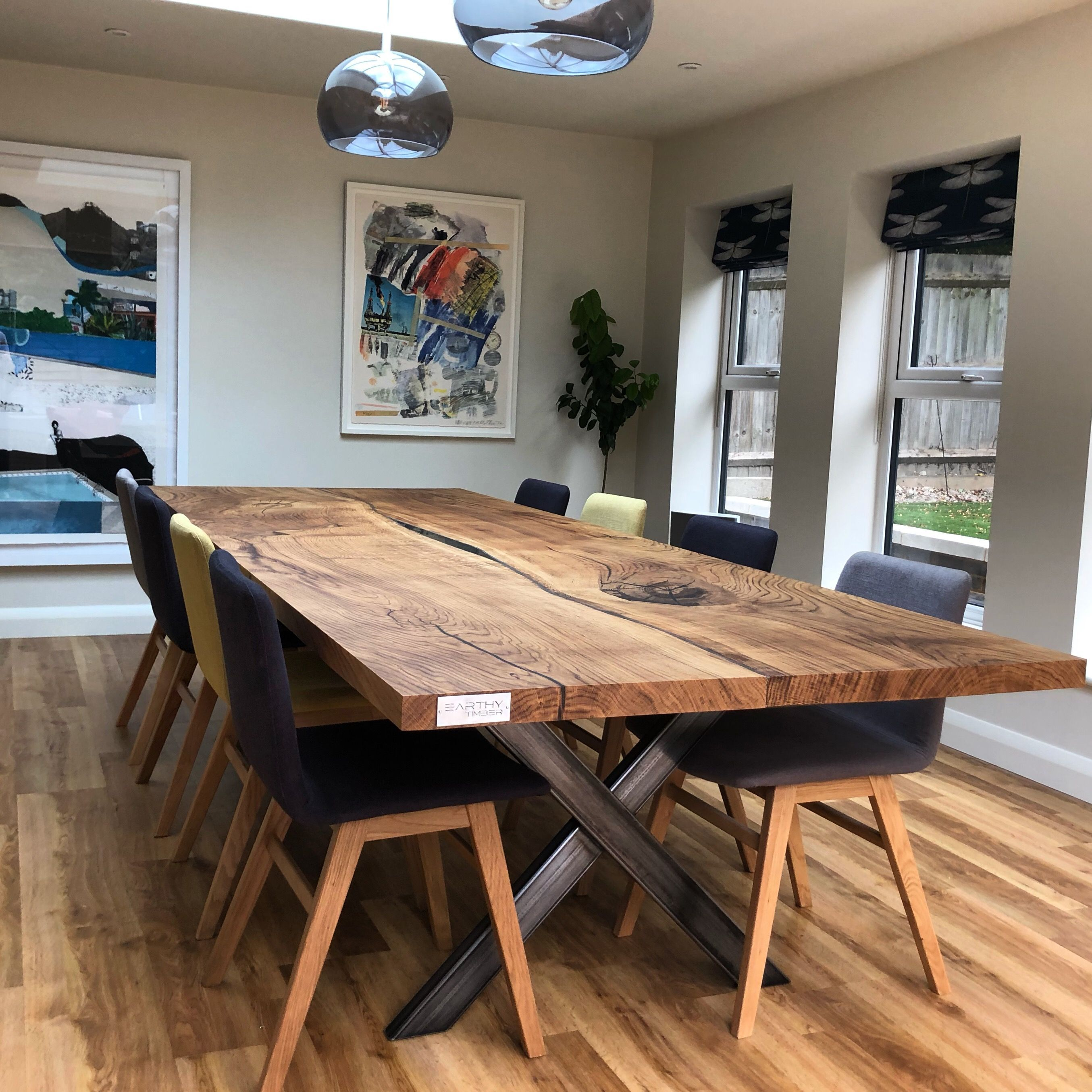 Bespoke Refined Wood Resin Tables Live Edge Tops Large Oak Dining Tables Living Table Oak Dining Table