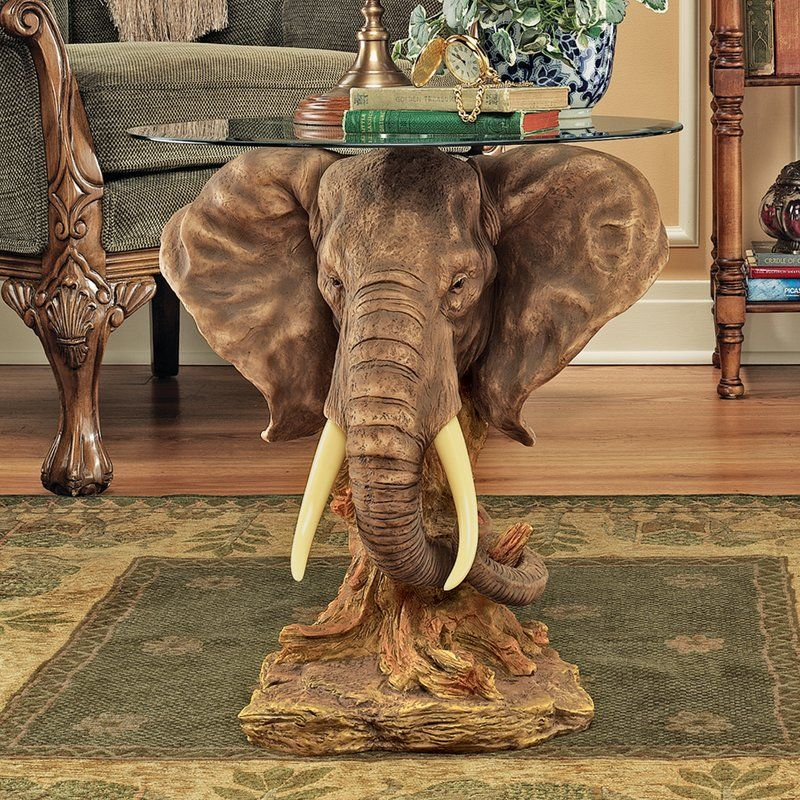 Lord Earl Houghton S Trophy Elephant End Table In 2019