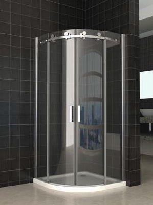 Semi Frameless Curved Sliding Door Shower Screen No Base 8mm