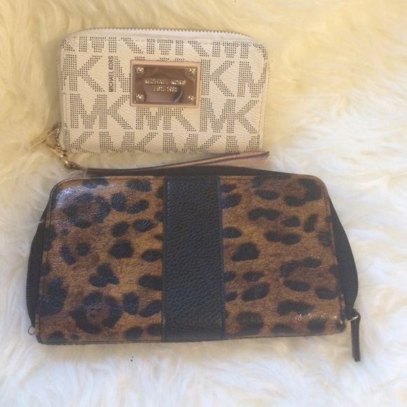 Mk wallet and leopard wallet Non authentic Mk wallet and leopard wallet bundle deal! Michael Kors Bags Wallets