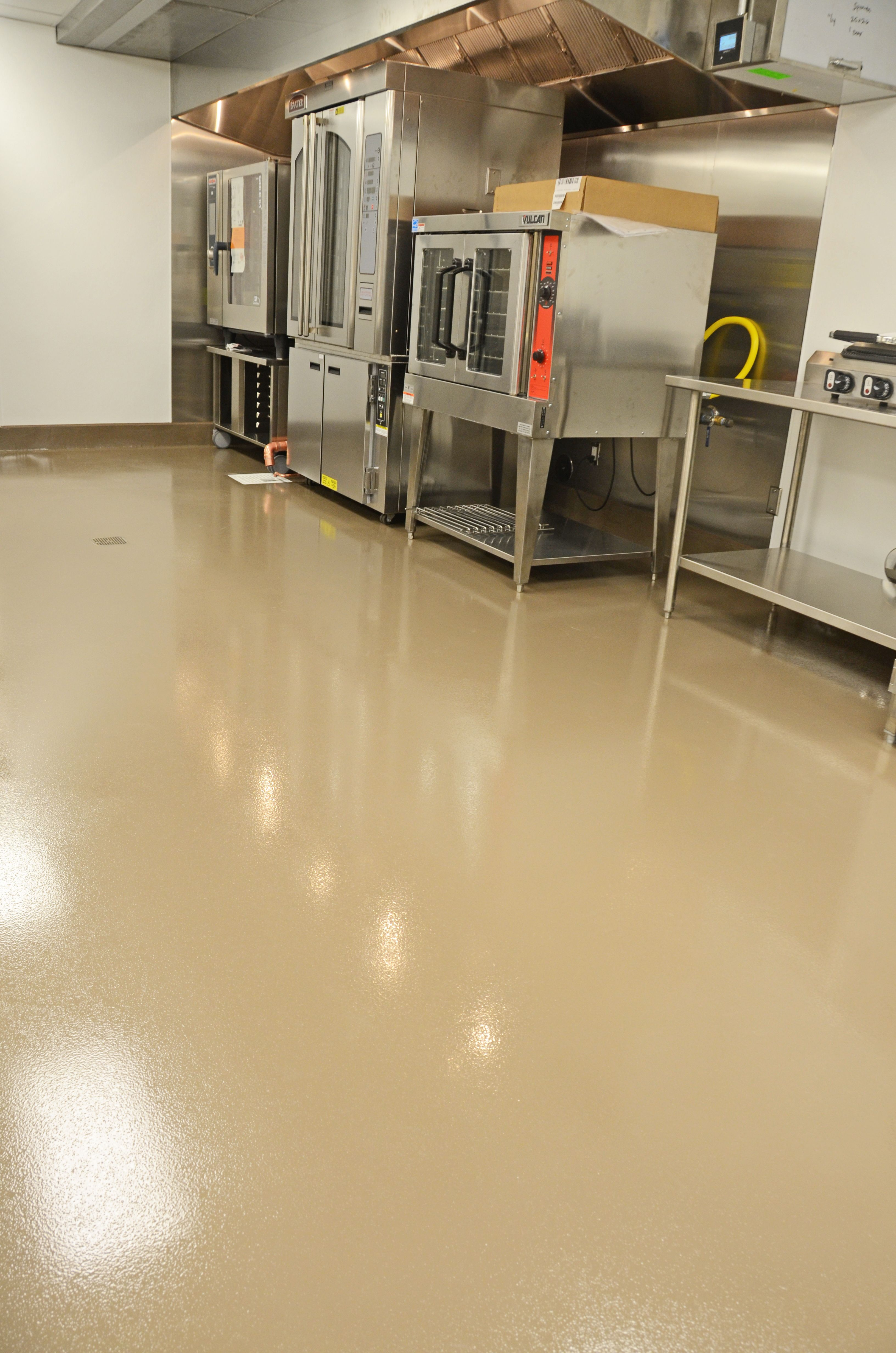 Urethane Cement Epoxy On Commercial Restaurant Easy To Clean Kitchen Floor