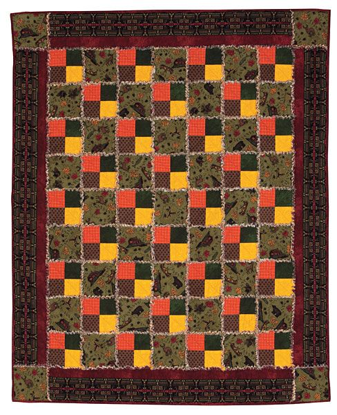 Additional Images Of Bear Run Raggy Flannel Quilt Kit By