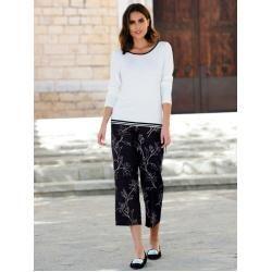 Photo of Alba Moda, pants with Alba Moda exclusive print, black Alba Moda
