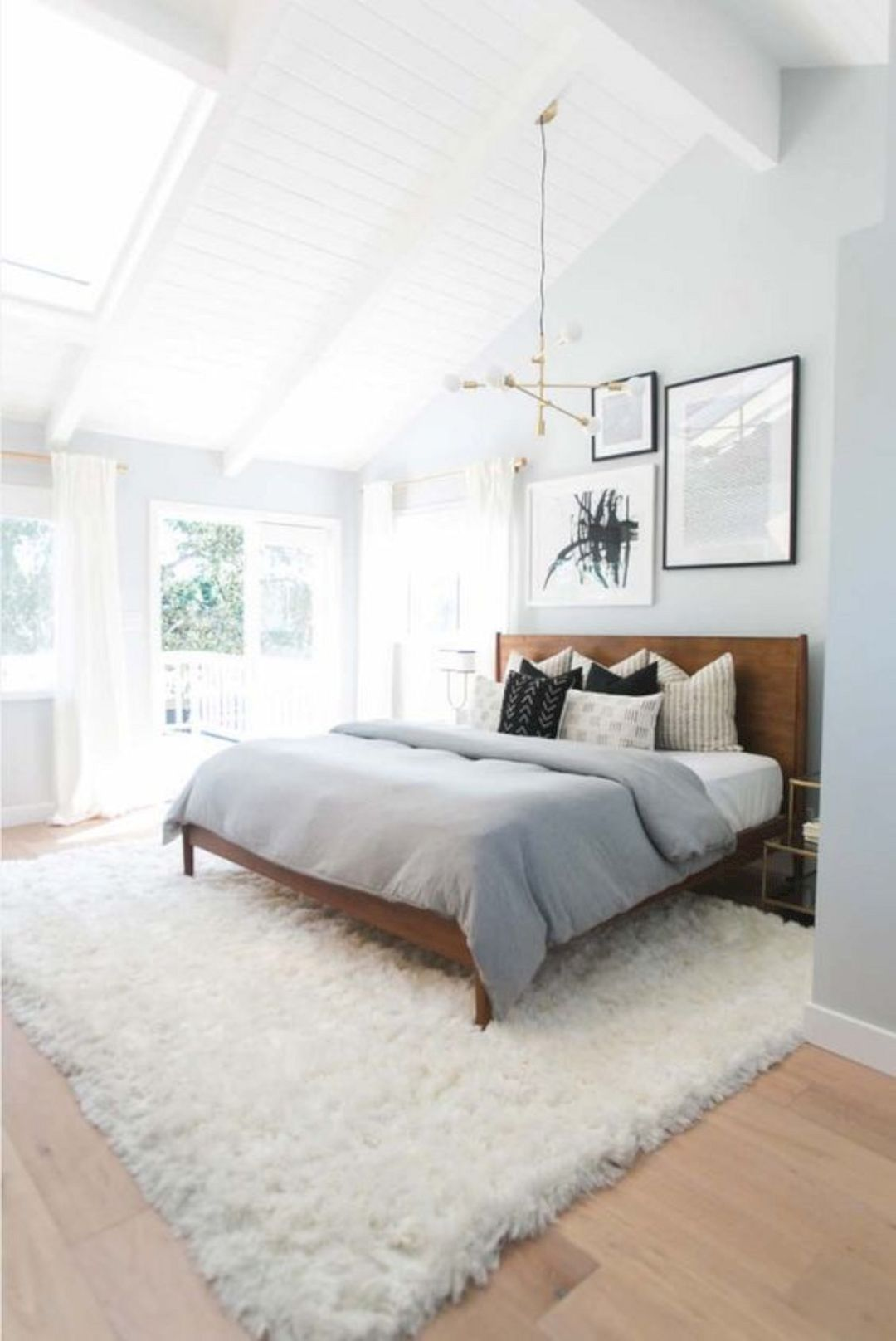 Spacious And Airy Bedroom Vaulted Shiplap Ceilings