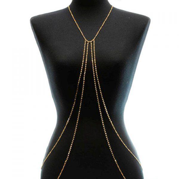 Fashion Diamante Multi-Layered Solid Color Tassels Pendant ...