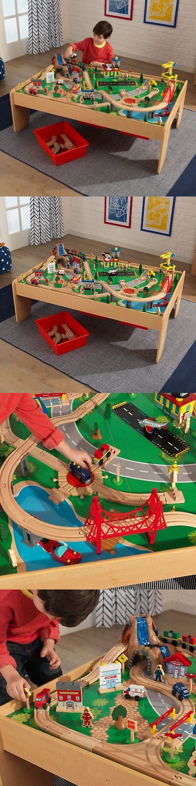 Wooden And Handcrafted Toys 1197: Kidkraft Waterfall Mountain Train Table  And Train Set   17850
