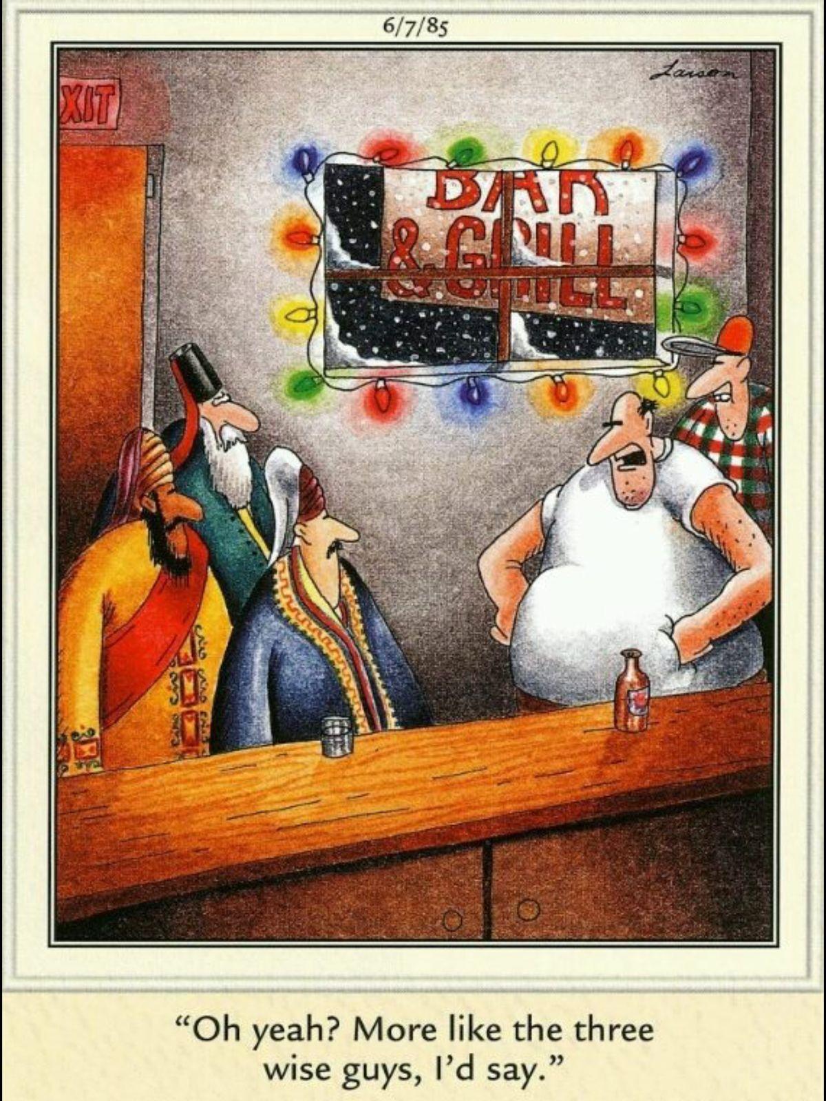 Far Side Christmas Cartoons : christmas, cartoons, Sarah, Cartoons, Cartoons,, Side,, Larson