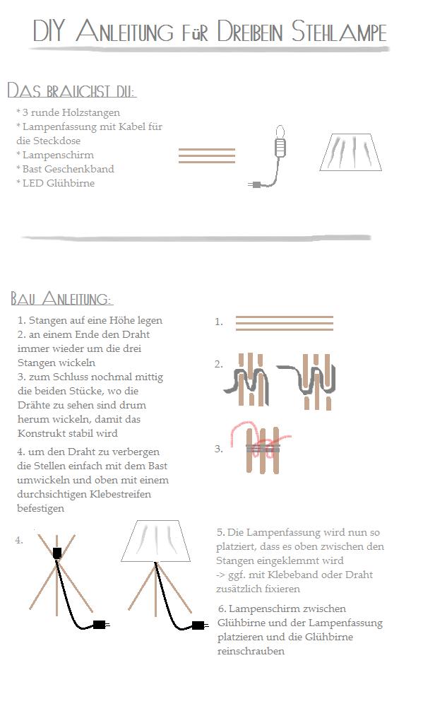 DIY Tripod Lamp - Dreibein Lampe   DIY Ideas   Pinterest   Diy ...