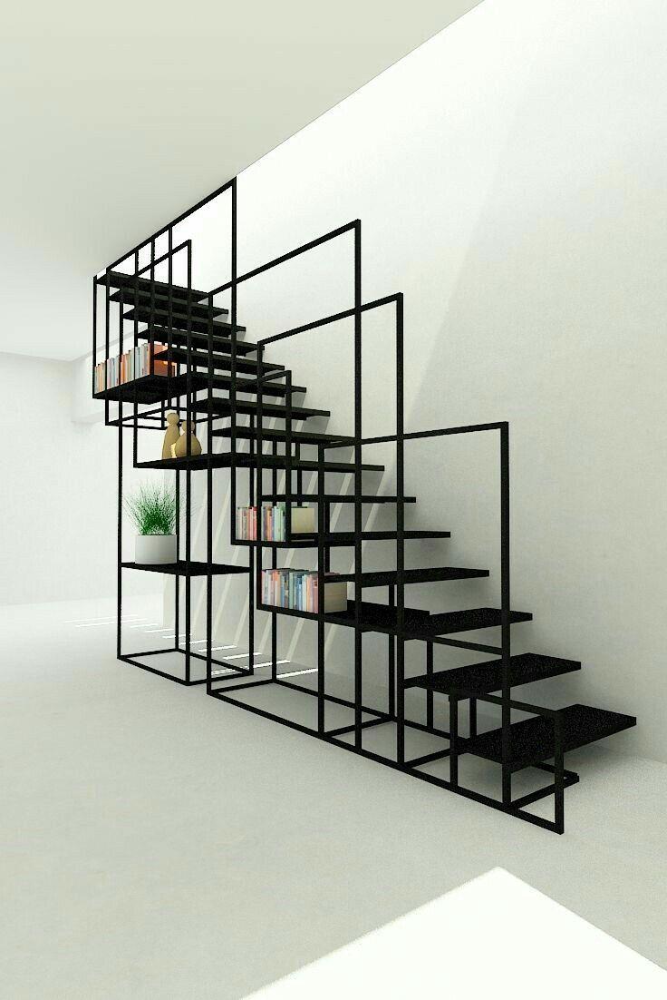 Cet escalier de designer se la joue graphique à souhait avec sa structure cubique