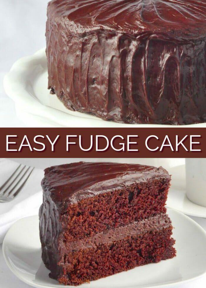 Fantastic Chocolate Fudge Cake With Easy Fudge Frosting Recipe Easy Funny Birthday Cards Online Hendilapandamsfinfo