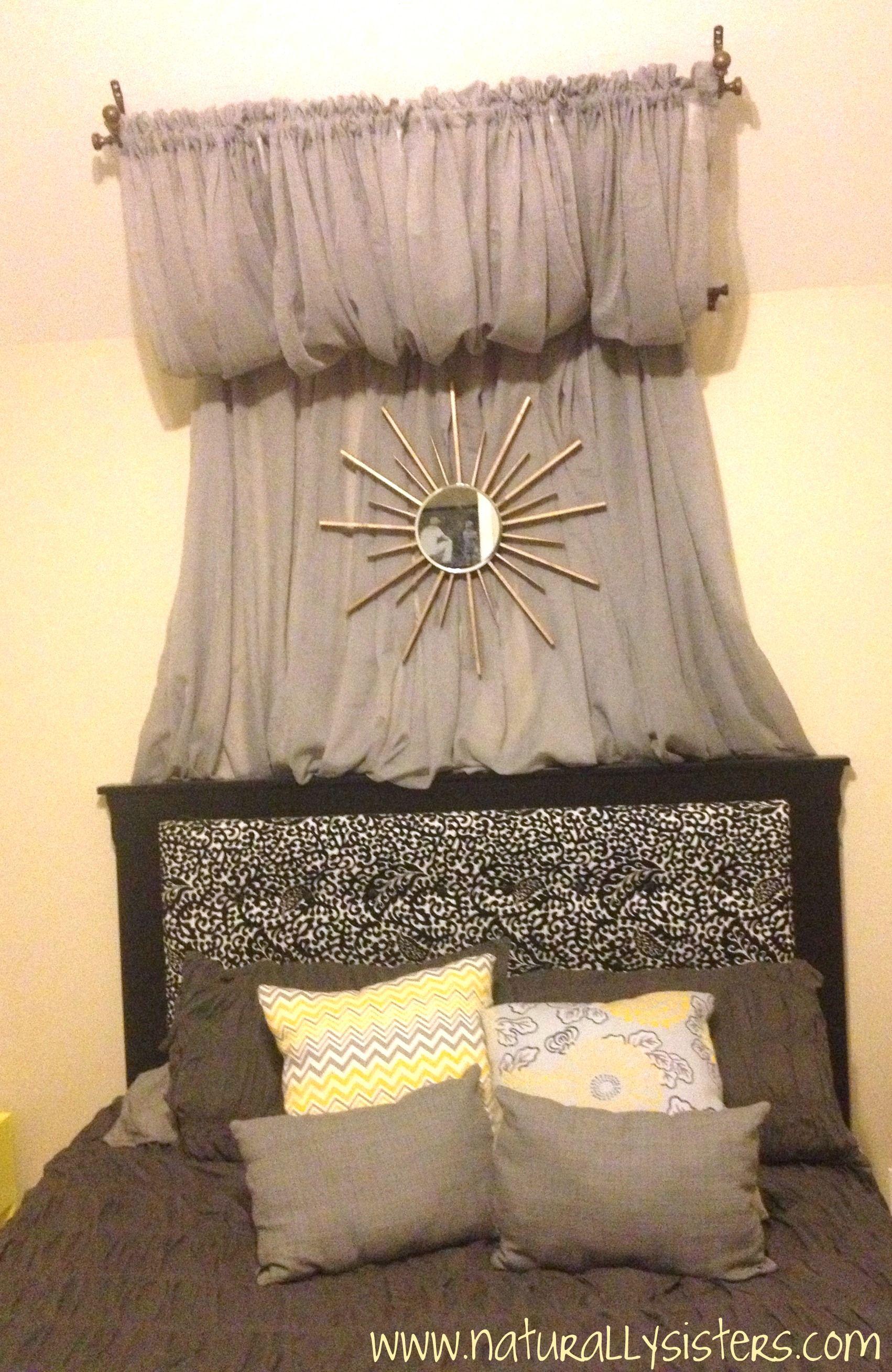 Curtain; cute idea for Hannah's room     DIY Starburst Mirror! How to!