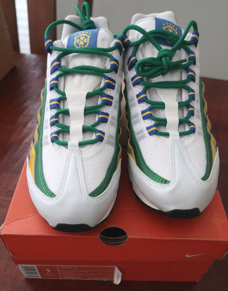 finest selection a4b0a e491b IN BOX BRAND NEW RARE Nike Air Max 95 BRAZIL World Cup Sz 9 609048-