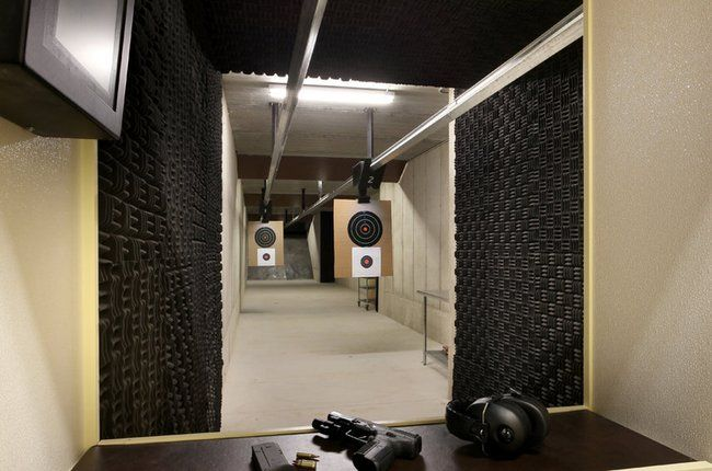 Home Indoor Shooting Range for a basement! ZZ would love this!