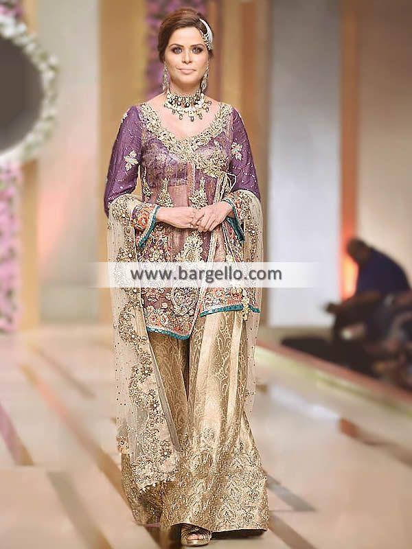 49a951044c Pakistani Bridal Dresses, Bridal Lehenga, Bridal Gowns, Angrakha Style,  Sharara Designs,