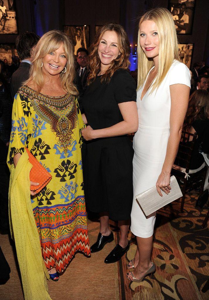 Goldie Hawn, Julia Roberts, and Gwyneth Paltrow.