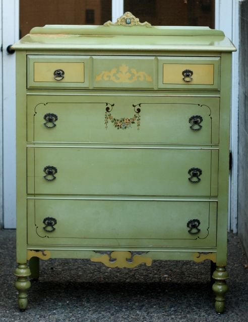 old painted furniture | Antique Furniture: Vintage painted dresser, Circa  1900 Painted Dresser - Old Painted Furniture Antique Furniture: Vintage Painted Dresser