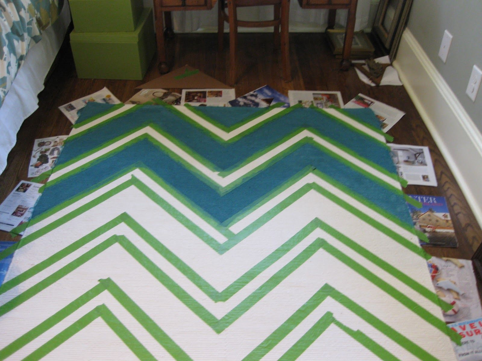 Chevron Patterned Rug The Colors Make Me Think Of Lauren Kenniston