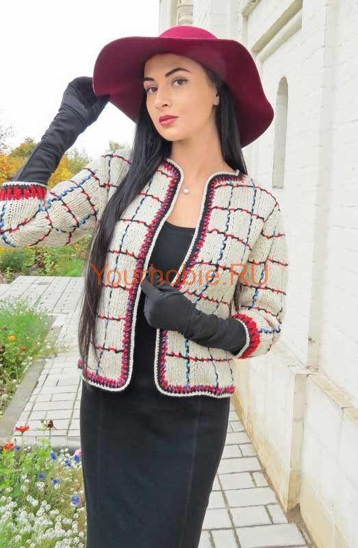 ЖАКЕТ В СТИЛЕ ШАНЕЛЬ. ОПИСАНИЕ, СХЕМА Высокая мода стала более практичной.В холодное время года вязаные пальто и кардиганы – это удобно. Жакет в стиле Шанель обязательно должен быть включен в ваш гардероб. Классический жакетвсегда будет актуален и вы всегда будете в тренде высокой моды