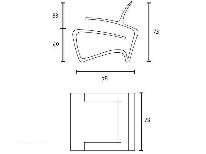 Poltrona in Kerto® con braccioli Collezione Koura by Havuu | design Jukka Lommi