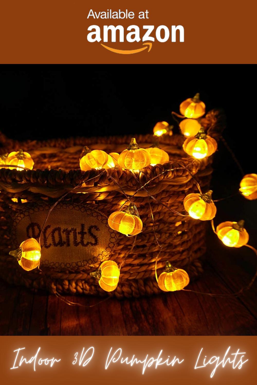 Halloween Indoor Lights Decoration Idea, Orange Pumpkin Scary Lights For Bedroom, Table & Livingroom