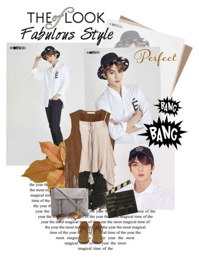 """2016.050 : Sehun"" by oh-pororo ❤ liked on Polyvore featuring W118 by Walter Baker, Alexander Wang, Sans Souci, Yves Saint Laurent, Ballard Designs, Ray-Ban, EXO, Sehun, promote and adcampaign"