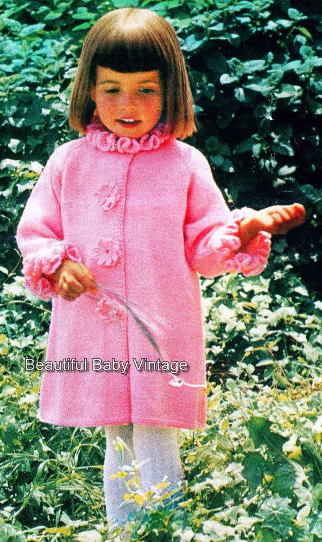 Vintage knitting pattern 1950s toddlers girl pink 8 ply coat vintage knitting pattern 1950s toddlers girl pink 8 ply coat jacket sz 1 3 bankloansurffo Choice Image