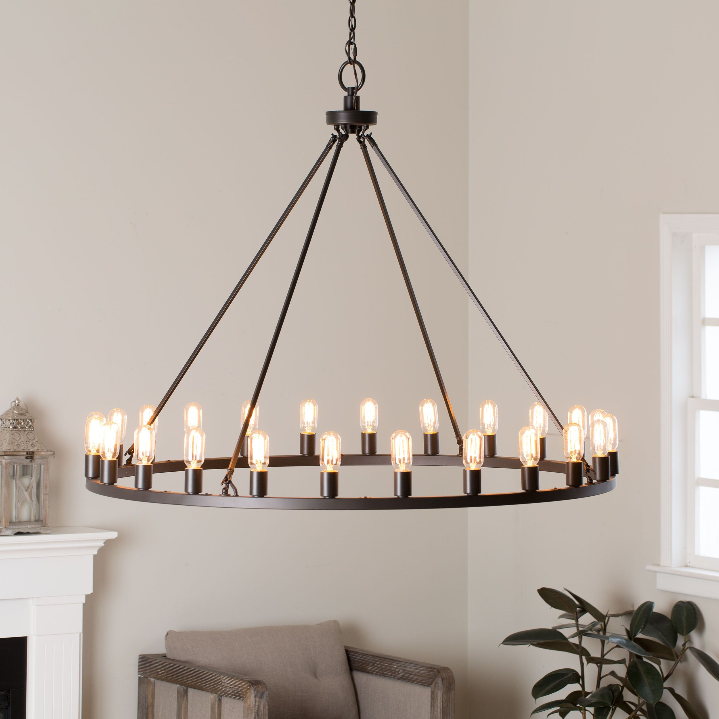 Emblazoned with 24 decorative Edison light bulbs this