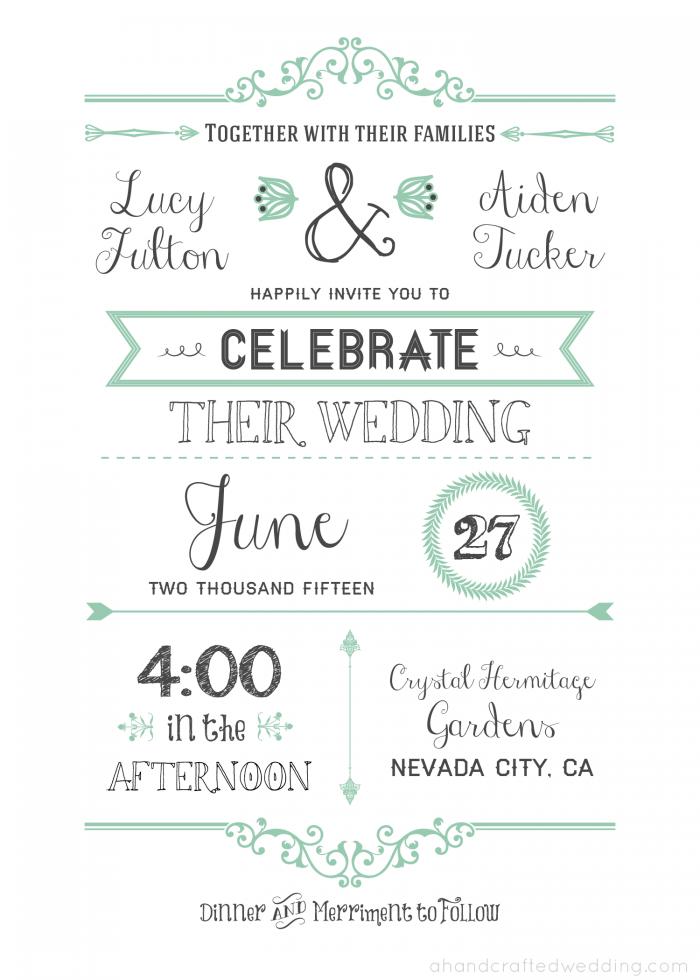 free wedding invitation template via ahandcraftedweddingcom wedding invitation vintageposter