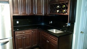 Black San Marcos Countertop With Full Backsplash Countertops Backsplash Granite Backsplash