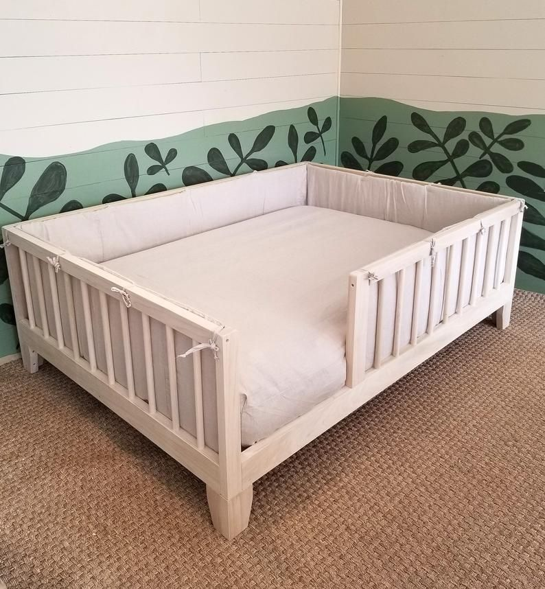 Full Size Montessori Floor Bed To Raised Bed Frame Convertible Etsy In 2020 Raised Bed Frame Floor Bed Bed Frame