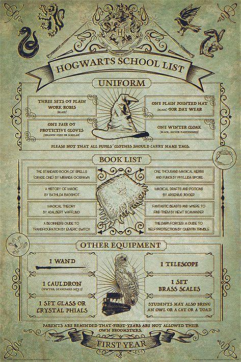 Harry Potter - Hogwarts School List - Plakát, Obraz na zeď | Posters.cz
