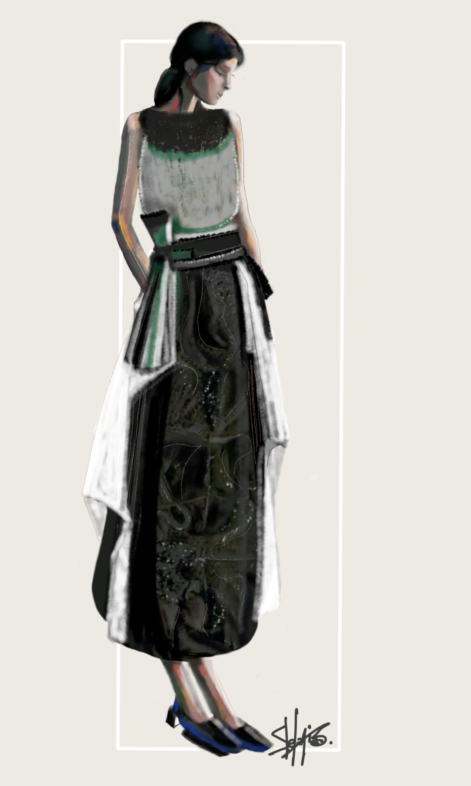 Main C.   Stefania Belmonte   fashion design   fashion drawing ...