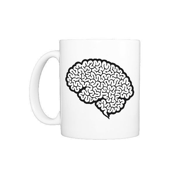 29+ Photo Mug. Digital cartoon of human brain showing cerebrum