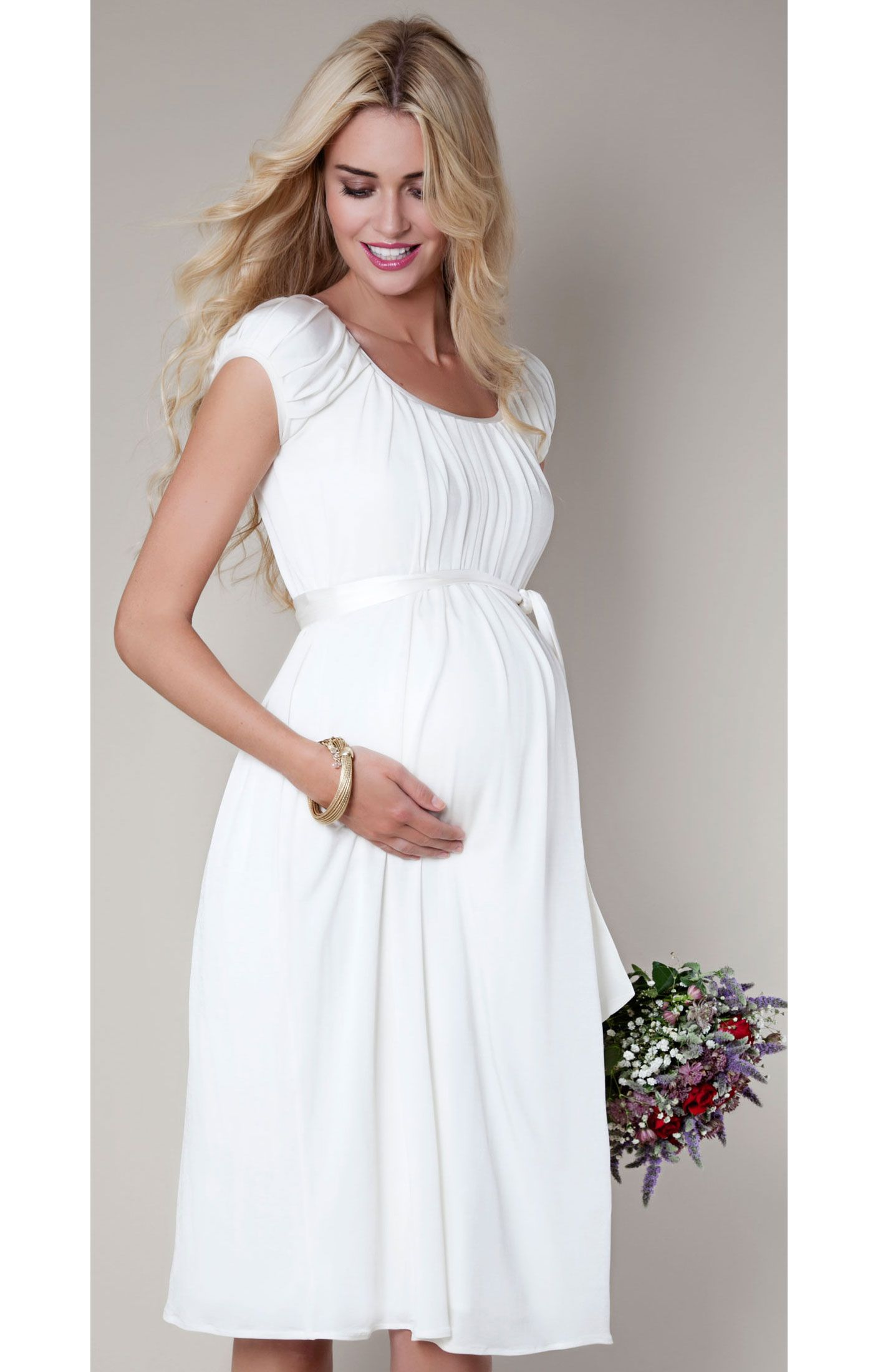 Claudia Maternity Gown Short (Ivory) Maternity Wedding