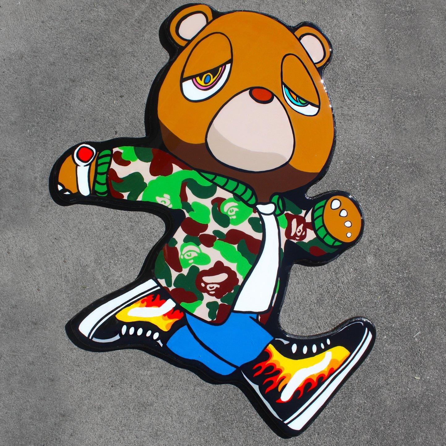 72b361e017c Kanye Graduation Bear | Resin Wall Art | Sold Out | Shop Hand ...