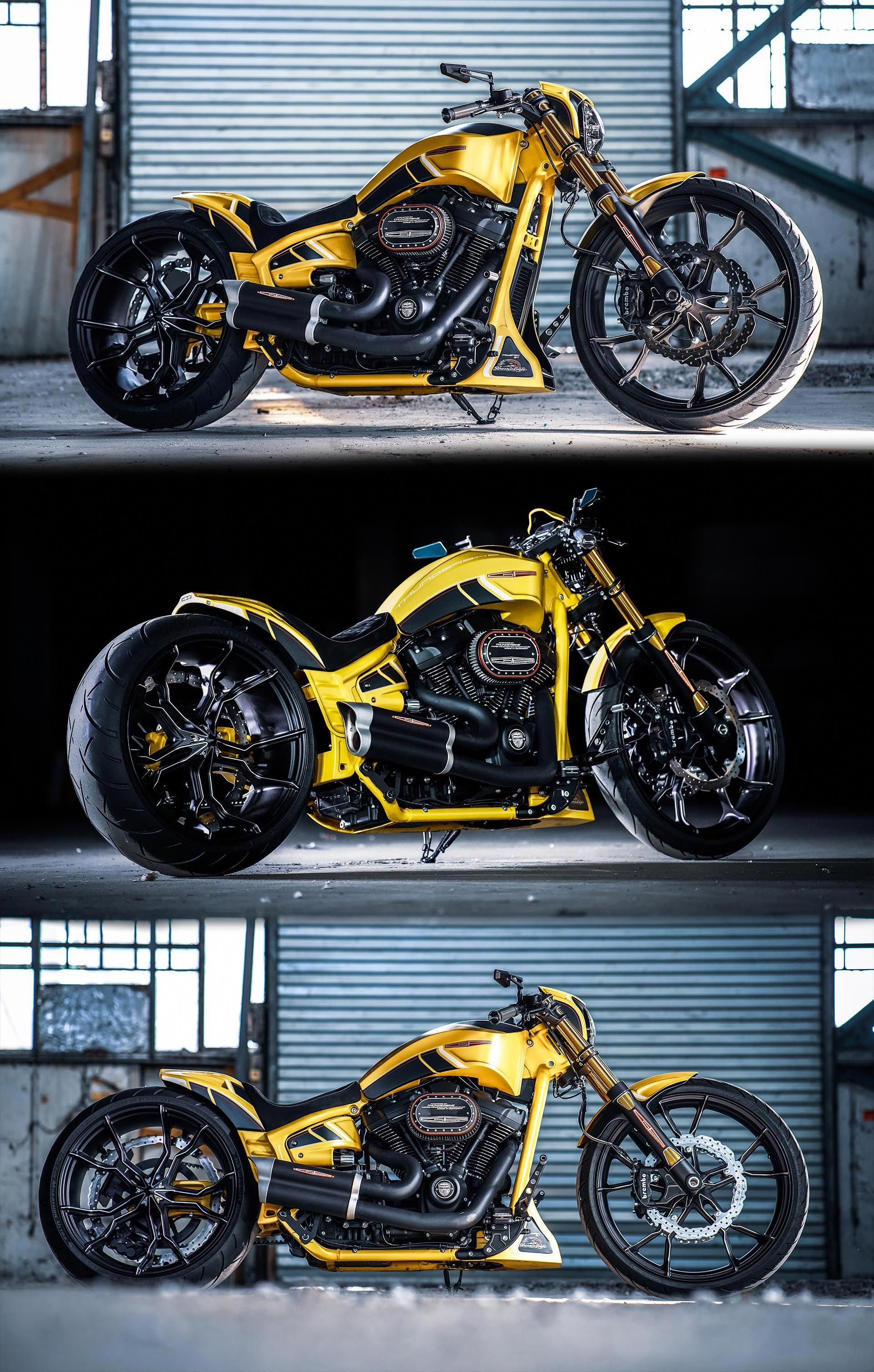Thunderbike Silverstone Harley Davidson Softail Breakout Brought To You By Smart E Harleydavidsonsoftail Softail Harley Davidson Harley Davidson Bikes