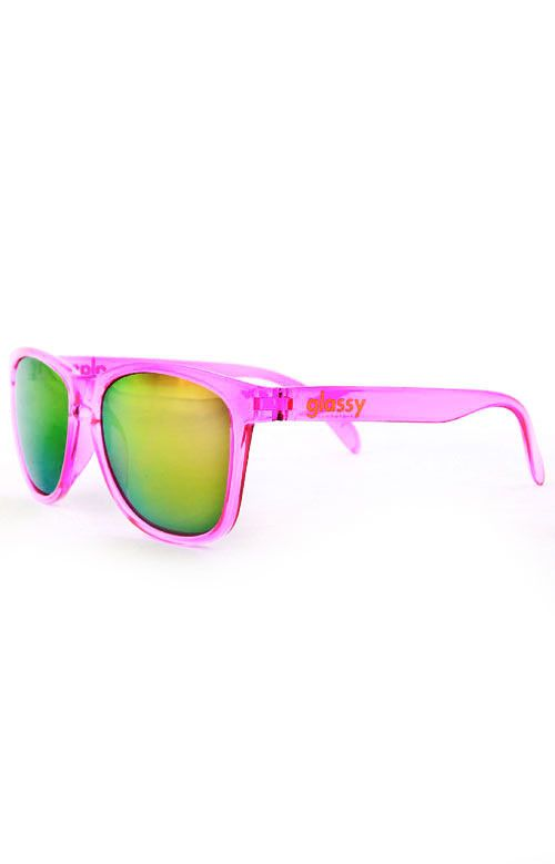 Glassy Sunhaters, Deric Sunglasses - Transparent Pink (Cancer Hater) - Glassy Sunhaters - MOOSE Limited