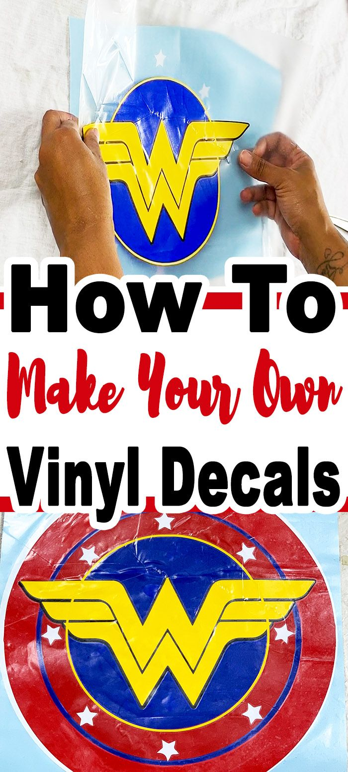 How To Make Your Own Decals #cricutvinylprojects