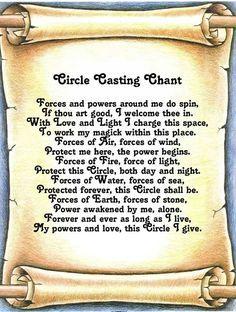 Circle Casting Chant   Chants, Spells, Rituals, & more   Circle cast