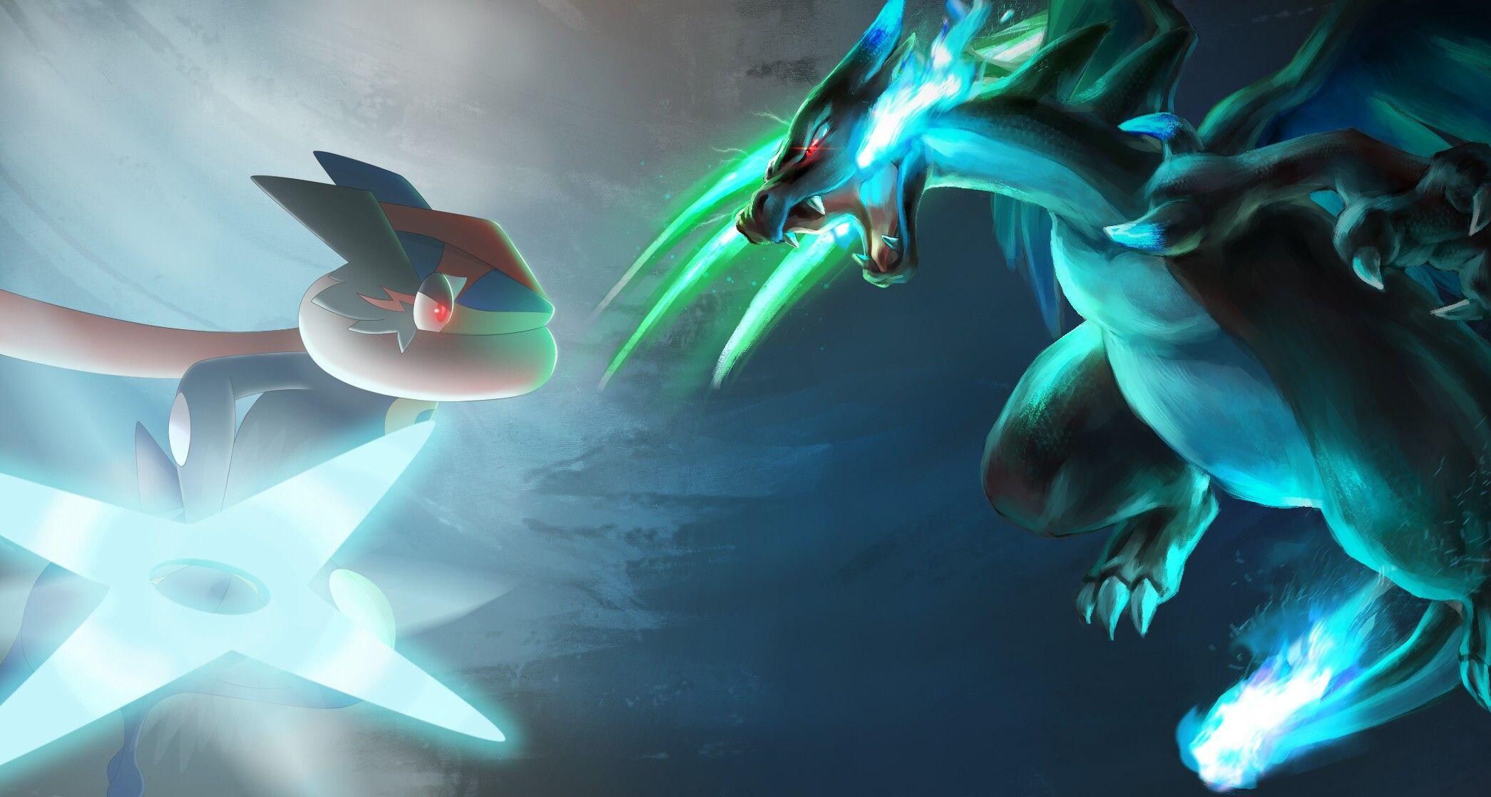 AshGreninja vs Mega Charizard x