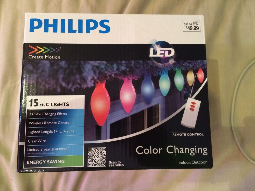Philips Create Motion 15 Ct Led Color Changing Lights Remote Nib  - Christmas Light Remote