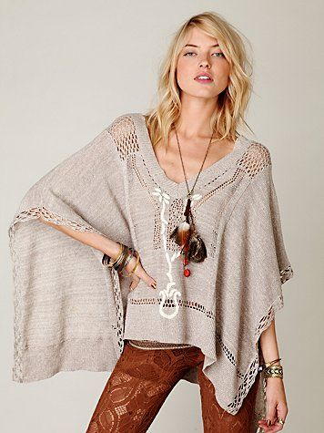 Love the design of this poncho.