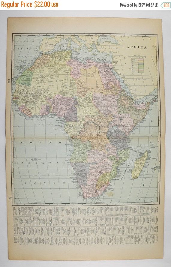 1900 vintage map of africa egypt nubia nw africa map vintage