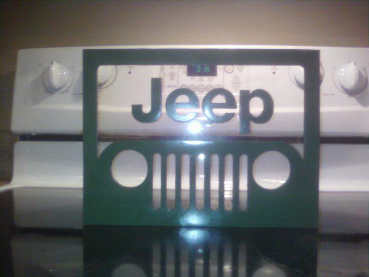 Jeep logo I cut out.