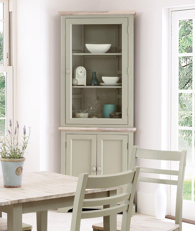 Florence Corner Display Cabinet, Dresser - Sage: Amazon.co.uk ...
